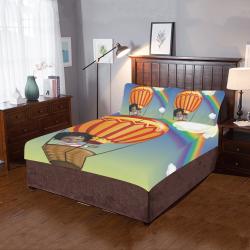 Bed Sheet Set Anaiah's Rainbow 3-Piece Bedding Set