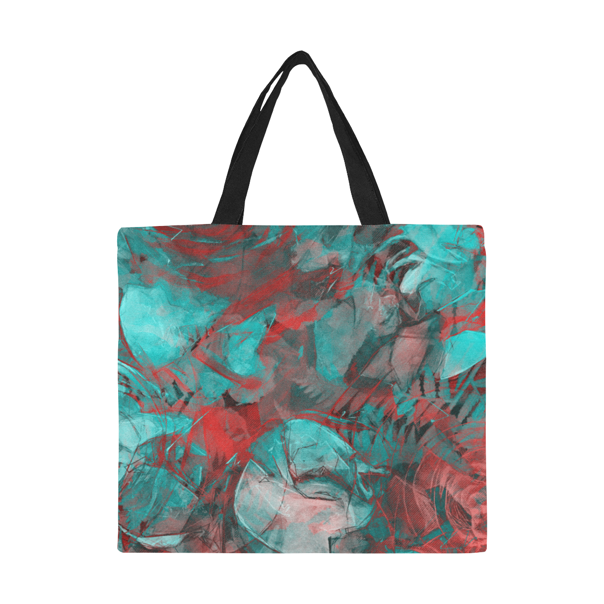 flowers flora #roses All Over Print Canvas Tote Bag/Large (Model 1699)