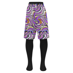 Groovy Retro Renewal - Purple Waves Men's Swim Trunk (Model L21)