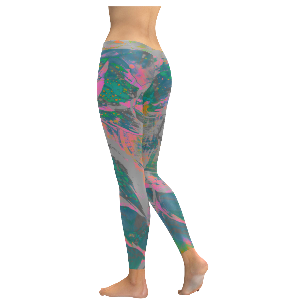 Wild Party Night Wear Crew All Over Print Legging