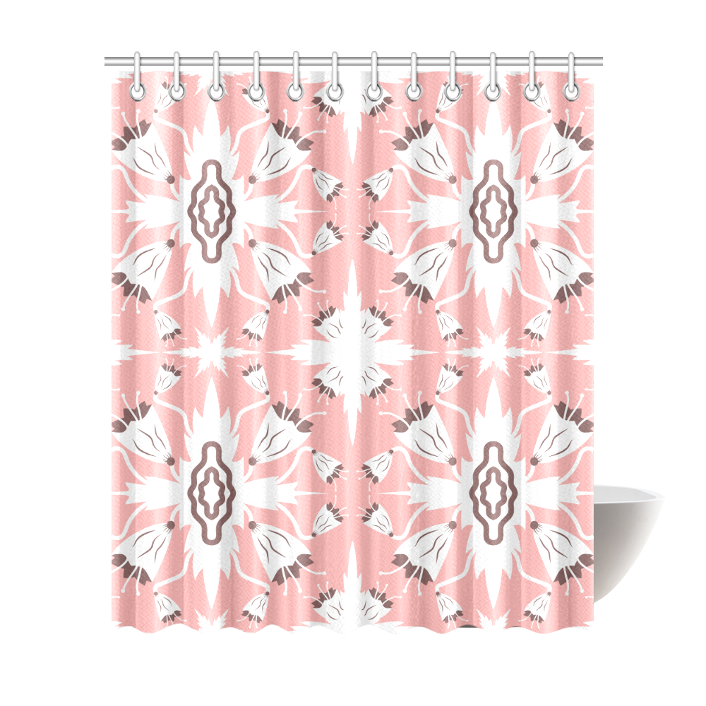 "Pink bluebells Shower Curtain 72""x84"""