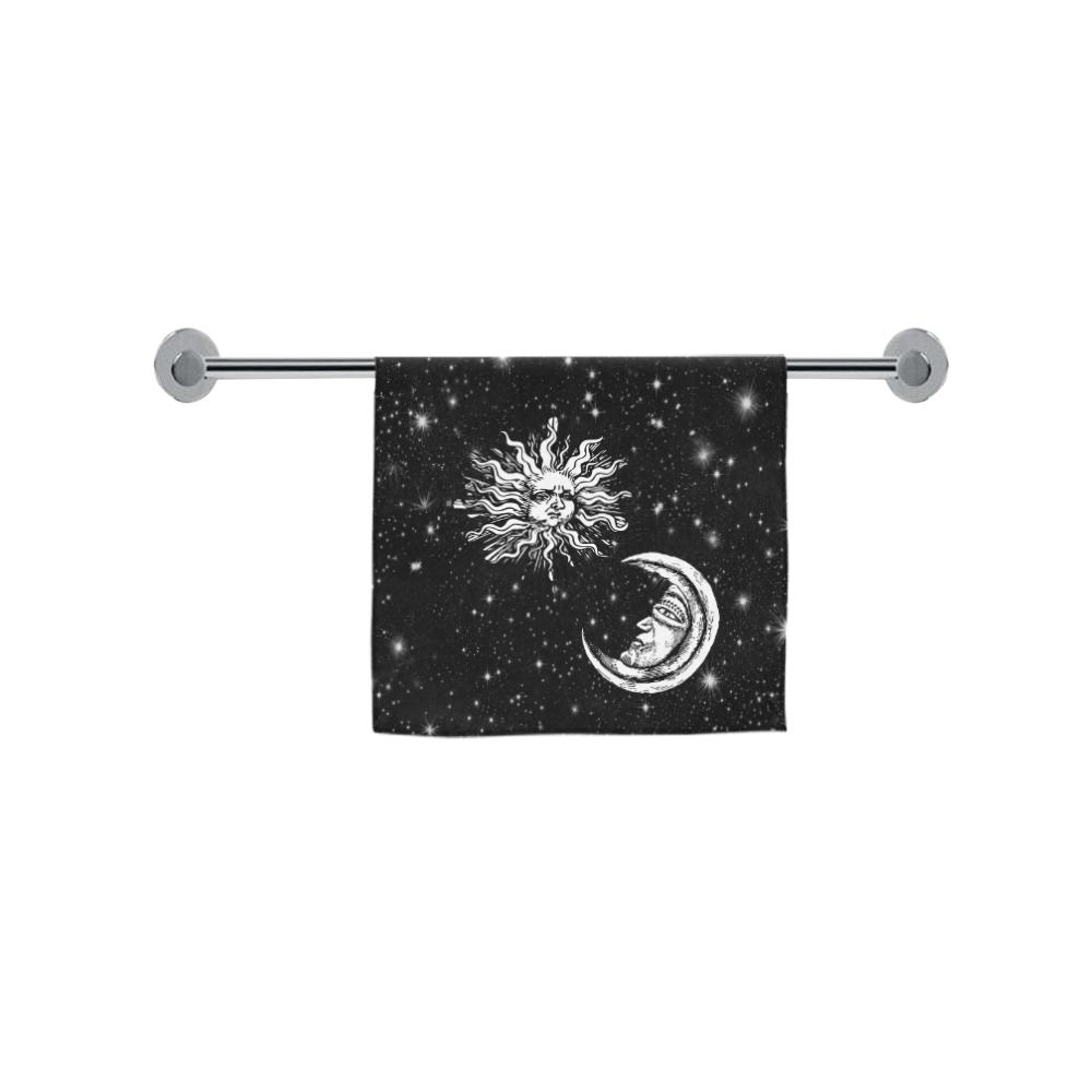 "Mystic  Moon and Sun Custom Towel 16""x28"""