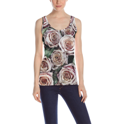 Impression Floral 9196 by JamColors All Over Print Tank Top for Women (Model T43)