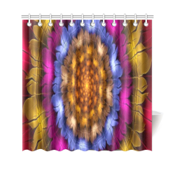 "Fractal flash Shower Curtain 69""x70"""
