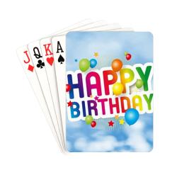 "Happy Birthday Playing Cards 2.5""x3.5"""