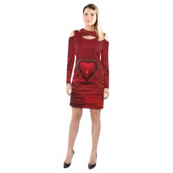 Bleeding Heart Cold Shoulder Long Sleeve Dress (Model D37)