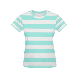 Marine All Over Print T-Shirt for Women (USA Size) (Model T40)