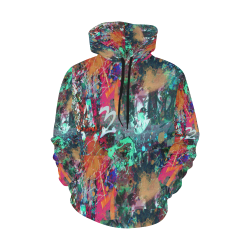 Graffiti Wall and Paint Splatter All Over Print Hoodie for Men (USA Size) (Model H13)
