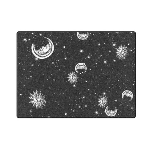 "Mystic Stars, Moon and Sun Blanket 58""x80"""