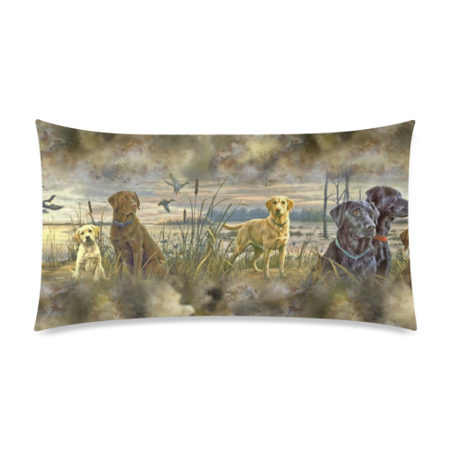 "Trusty Retrievers Pattern Rectangle Pillow Case 20""x36""(Twin Sides)"