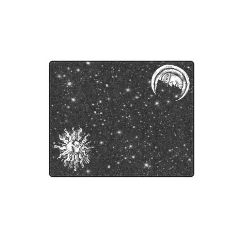 "Mystic Moon and Sun Blanket 40""x50"""