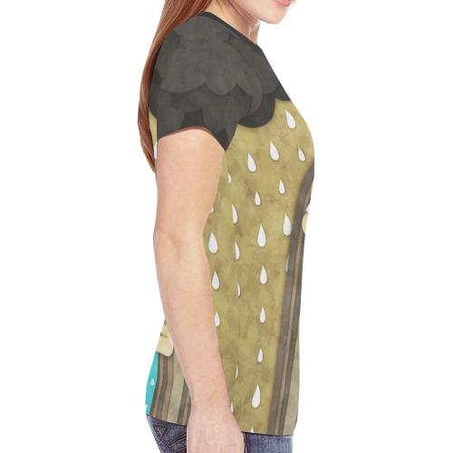 We Love Rain New All Over Print T-shirt for Women (Model T45)