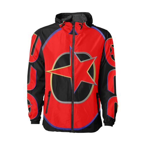 RED BRO LUXURY WINDBREAKER Unisex All Over Print Windbreaker (Model H23)