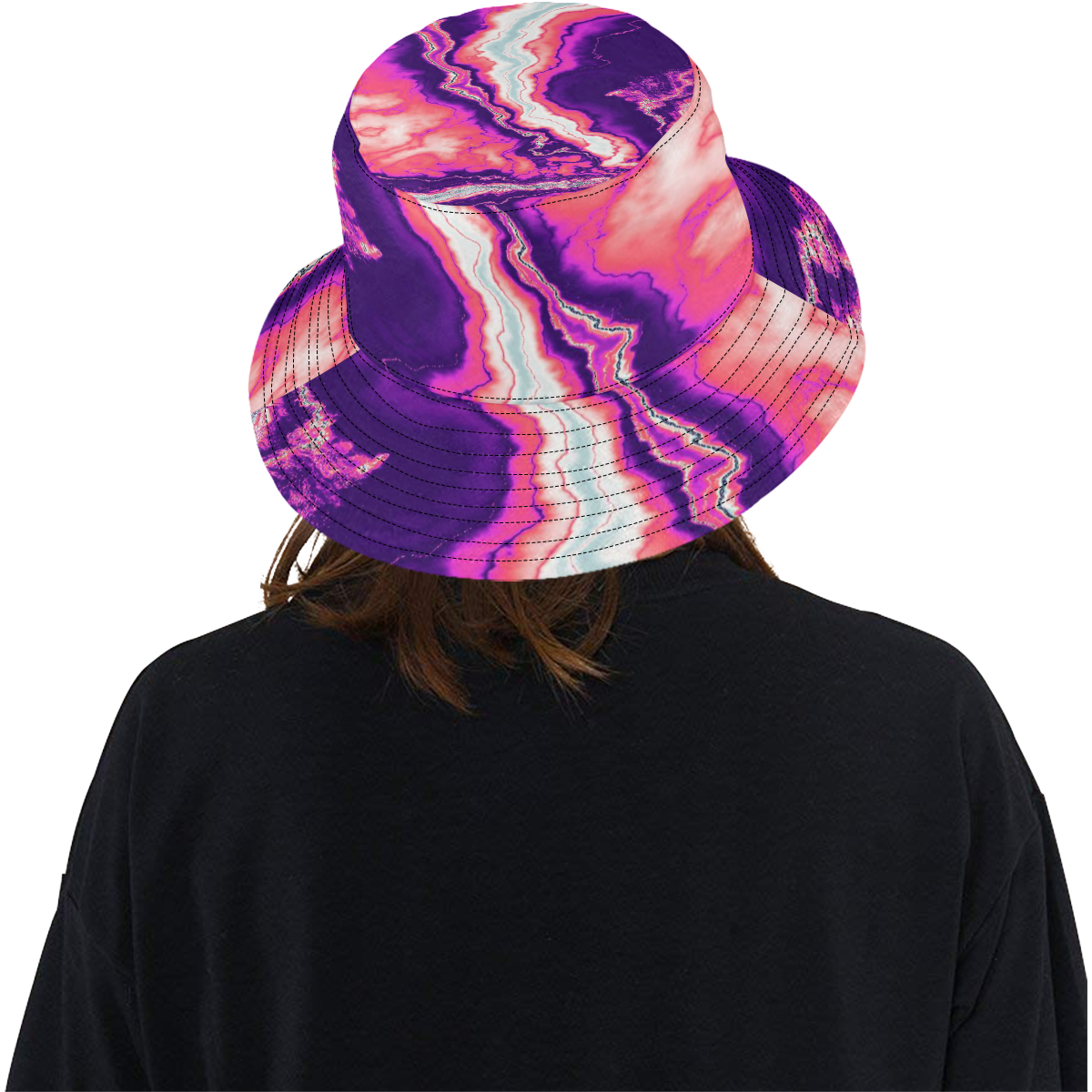 Pink and Purple Geode All Over Print Bucket Hat