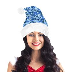 Woodland Blue Camouflage Santa Hat