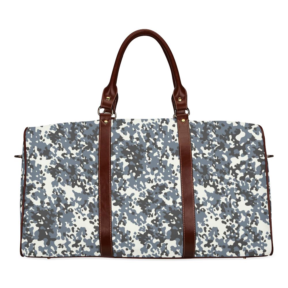 Urban City Black/Gray Digital Camouflage Waterproof Travel Bag/Large (Model 1639)