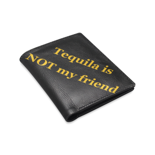 Tequila not Men's Leather Wallet (Model 1612)