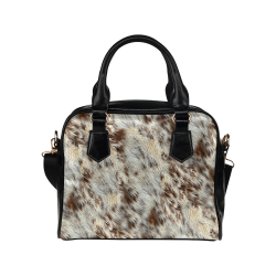 Cow/Horse Spots Animal Fur Image Shoulder Handbag (Model 1634)
