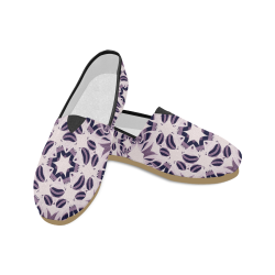 Light Violet Geometric Star Ornament Unisex Casual Shoes (Model 004)