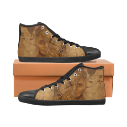 A Time Travel Of STEAMPUNK 1 Women's High Top Canvas Shoes (Model 002)