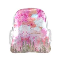 Little Deer in the Magic Pink Forest Multi-Pockets Backpack (Model 1636)