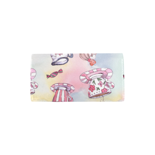 Coffee and sweeets Women's Trifold Wallet (Model 1675)
