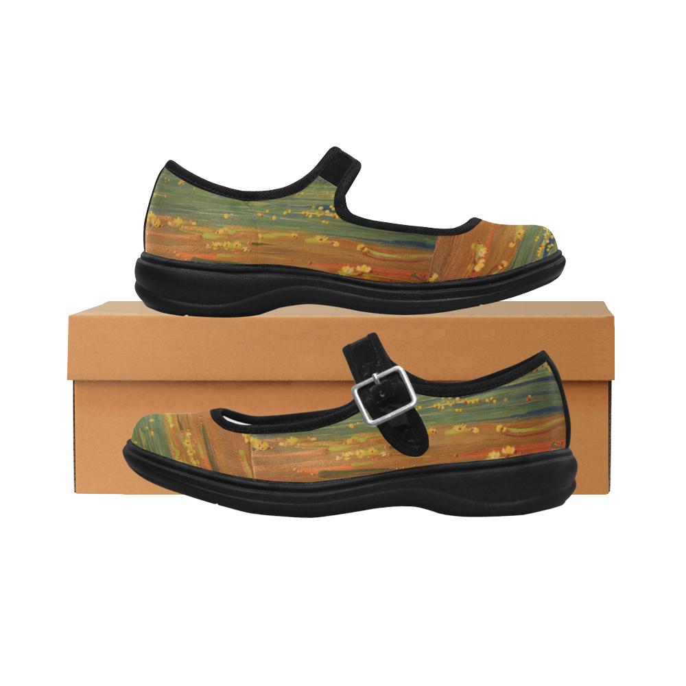 Golden Lotus Mila Satin Women's Mary Jane Shoes (Model 4808)