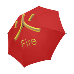 d-Golden Asian Symbol for Fire Semi-Automatic Foldable Umbrella (Model U05)