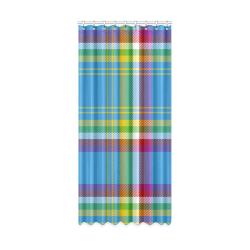 "Yukon Tartan Window Curtain 50"" x 108""(One Piece)"