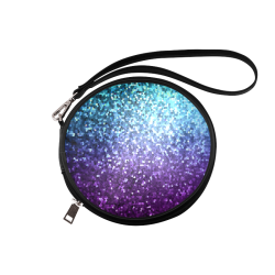 Mosaic Sparkley Texture G198 Round Makeup Bag (Model 1625)