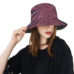 hearts everywhere B  by JamColors All Over Print Bucket Hat