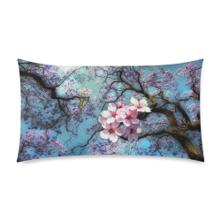 """Cherry blossomL Rectangle Pillow Case 20""""x36""""(Twin Sides)"""