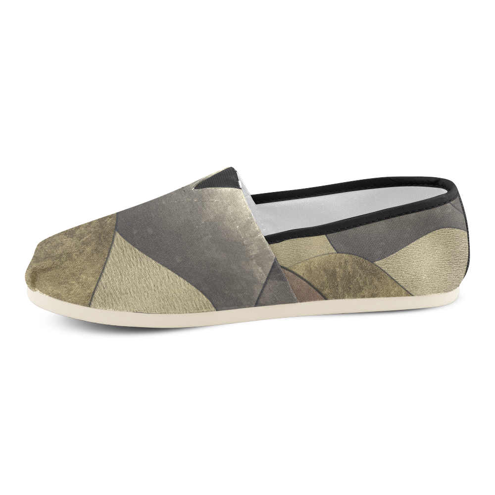 sun space #modern #art Unisex Casual Shoes (Model 004)