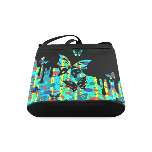 Animals Nature - Splashes Tattoos with Butterflies Crossbody Bags (Model 1613)