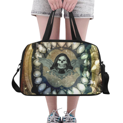 Awesome scary skull Fitness Handbag (Model 1671)