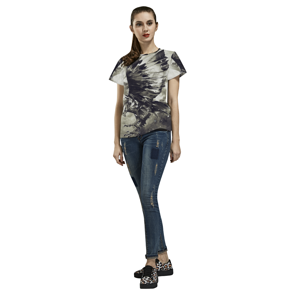 Eagle Bird Animal All Over Print T-Shirt for Women (USA Size) (Model T40)