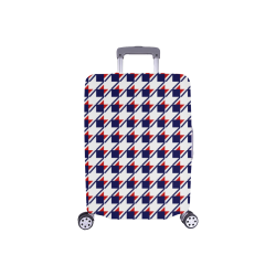 """Red White Blue Houndstooth Luggage Cover/Small 18""""-21"""""""