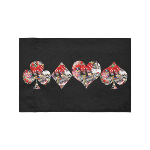 Las Vegas Playing Card Shapes / Black Motorcycle Flag (Twin Sides)