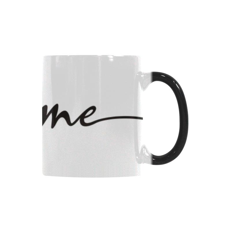 Romantic je t'aime - french love - black Custom Morphing Mug (11oz)