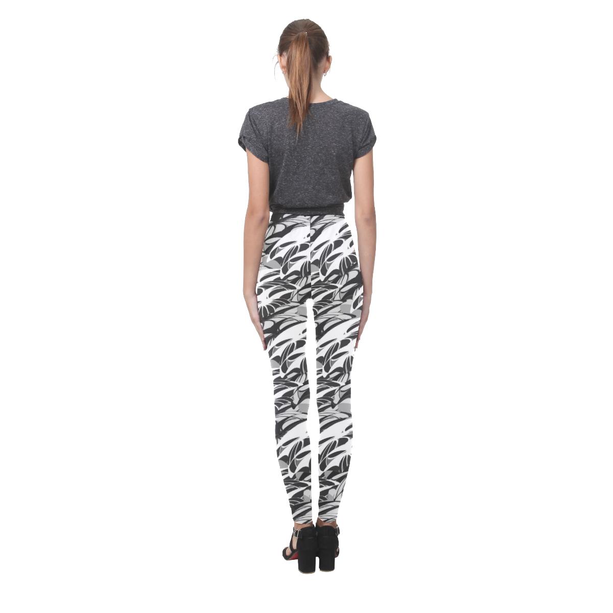 Alien Troops - Black & White Cassandra Women's Leggings (Model L01)