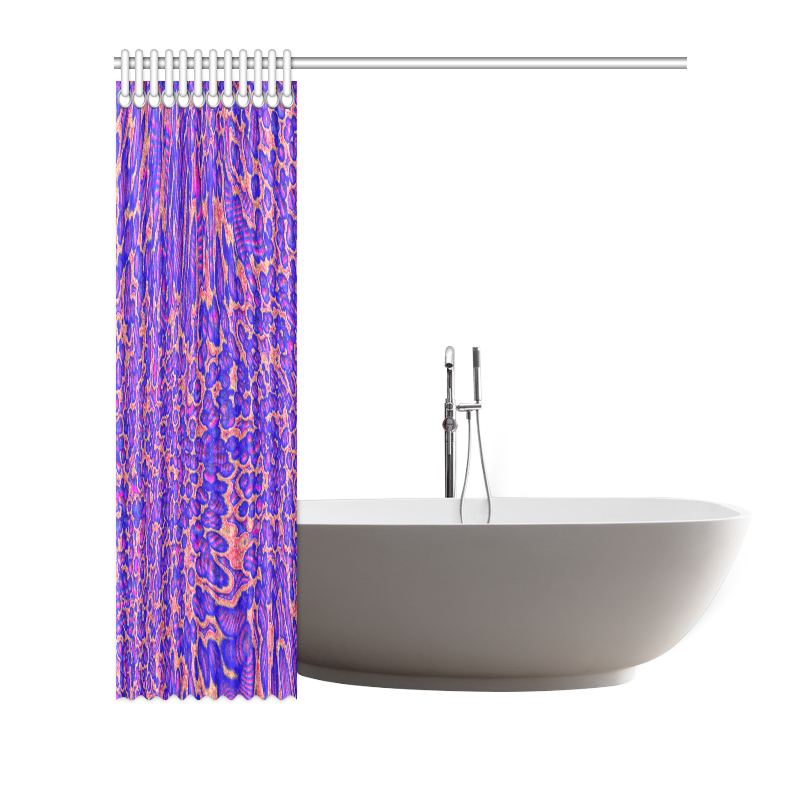 """70s chic moire 3 Shower Curtain 72""""x72"""""""