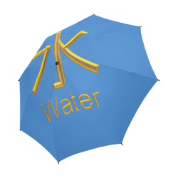 e-Golden Asian Symbol for Water Semi-Automatic Foldable Umbrella (Model U05)