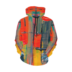 Funky Abstract Men's Hoodie All Over Print Hoodie for Men (USA Size) (Model H13)