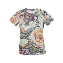 Impression Floral 10191 by JamColors All Over Print T-Shirt for Women (USA Size) (Model T40)