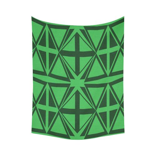 "geometric design Cotton Linen Wall Tapestry 60""x 80"""
