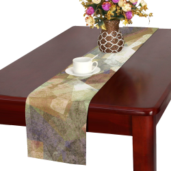 abstract squares Table Runner 16x72 inch