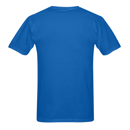 heart blue Men's T-Shirt in USA Size (Two Sides Printing)