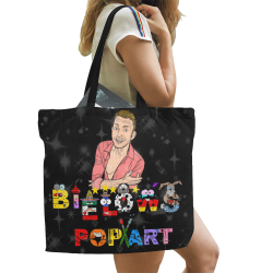 Pop Art by Nico Bielow All Over Print Canvas Tote Bag/Large (Model 1699)