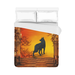 "Wonderful black wolf in the night Duvet Cover 86""x70"" ( All-over-print)"
