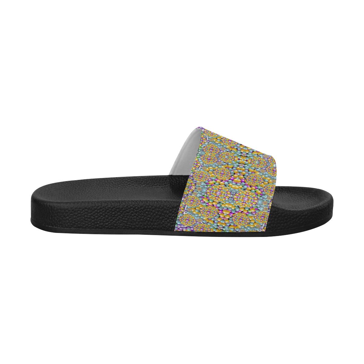 pearls as candy Men's Slide Sandals (Model 057)